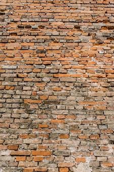 Antigo fundo de parede de tijolo marrom
