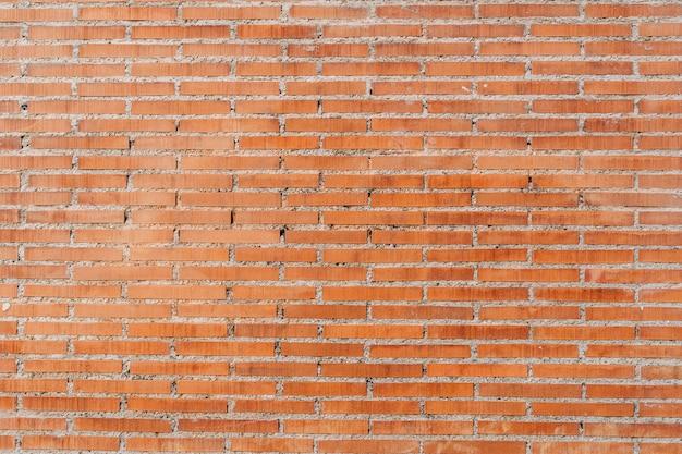 Antigo fundo de parede de tijolo vermelho, amplo panorama de alvenaria