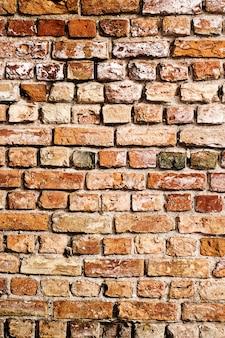 Antigo fundo de parede de tijolo