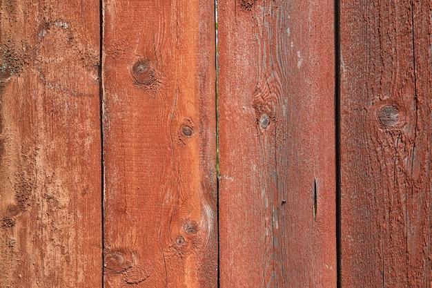 Antigo fundo de tábuas pintadas de madeira
