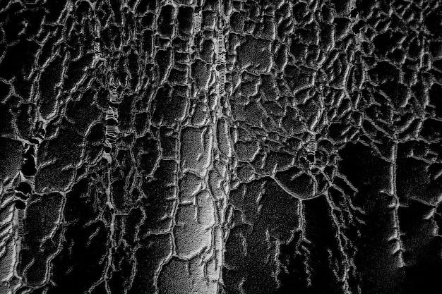 Antigo fundo de textura de couro preto rachado