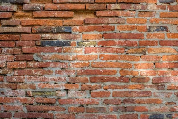 Antigo fundo de textura de parede de tijolo marrom vermelho.
