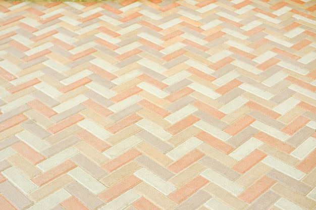 Antigo fundo de textura de pavimento de mosaico