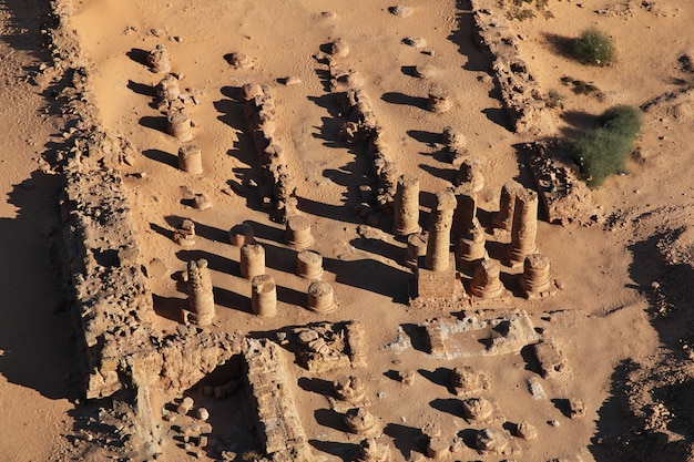 Antigo templo do faraó em jebel barkal, sudão