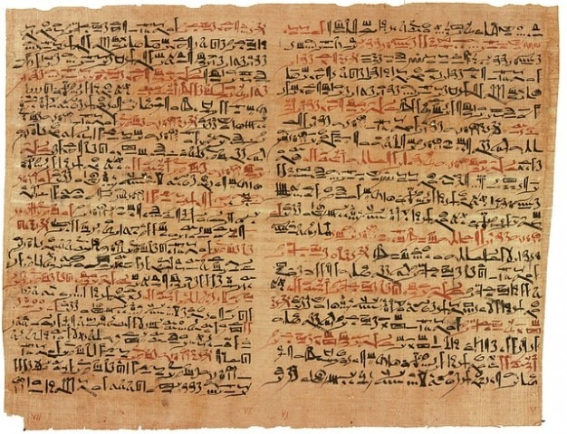 Antigos hieróglifos egípcio papiro