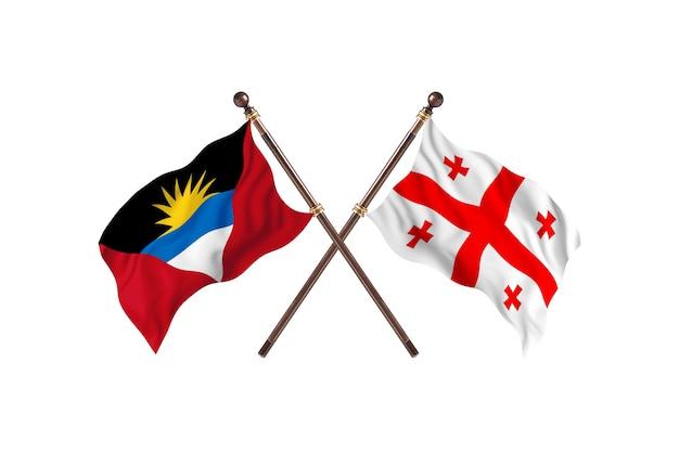 Antígua e barbuda versus geórgia dois países bandeiras histórico