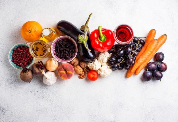Antioxidantes em produtos. comer limpo
