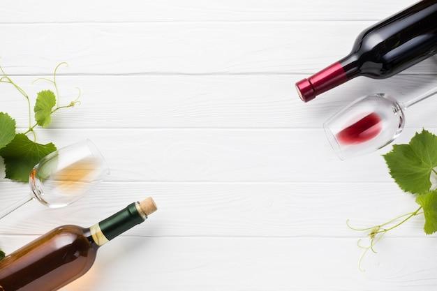 Antítese entre vinho tinto e branco