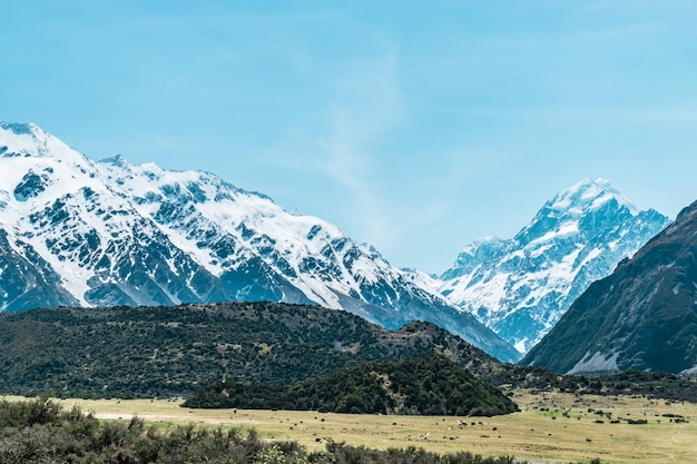 Aoraki mount cook a montanha mais alta da nova zelândia