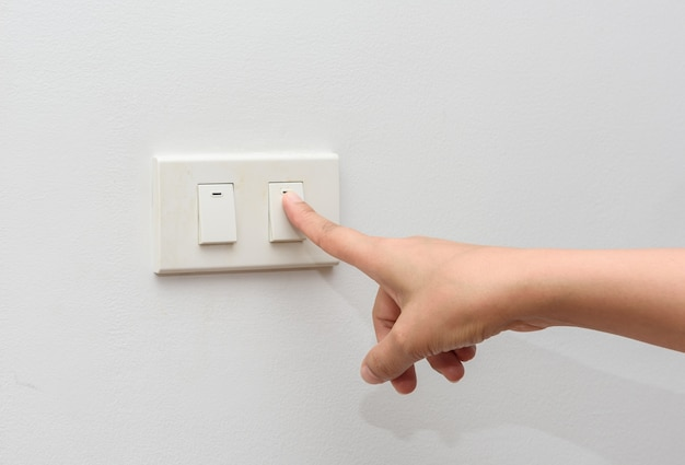 Apague a luz. salvar o conceito de energia