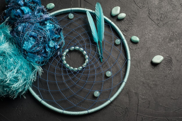 Apanhador de sonhos azul plano leigos