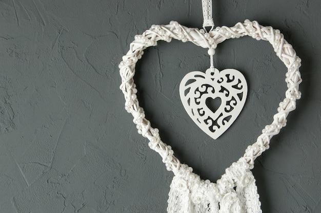 Apanhador de sonhos de coração branco