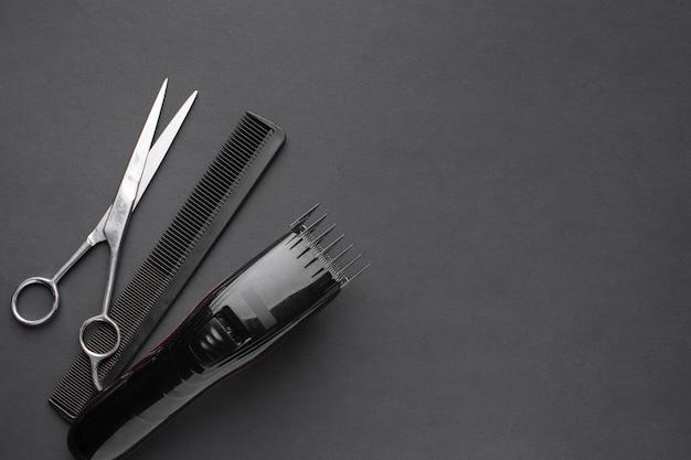 Aparador de cabelo profissional cópia espaço