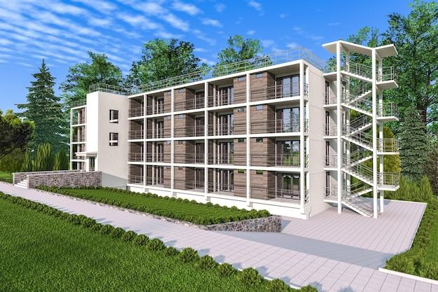 Apartamento - casa com jardim e escadas externas