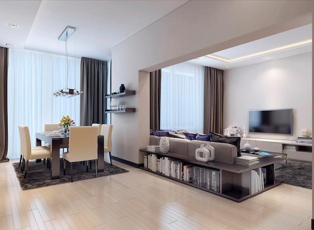 Apartamento estúdio de estilo moderno