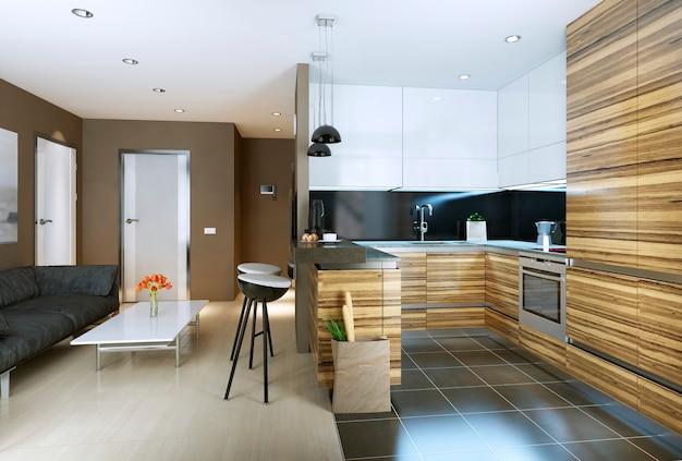 Apartamento estudo de estilo moderno