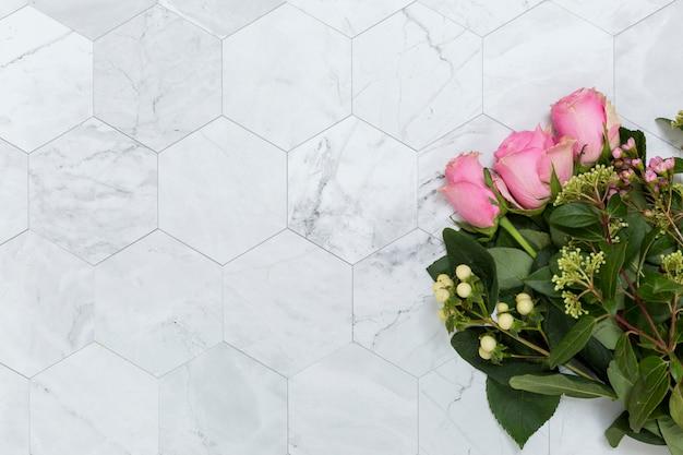 Apartamento leigos de flores com copyspace