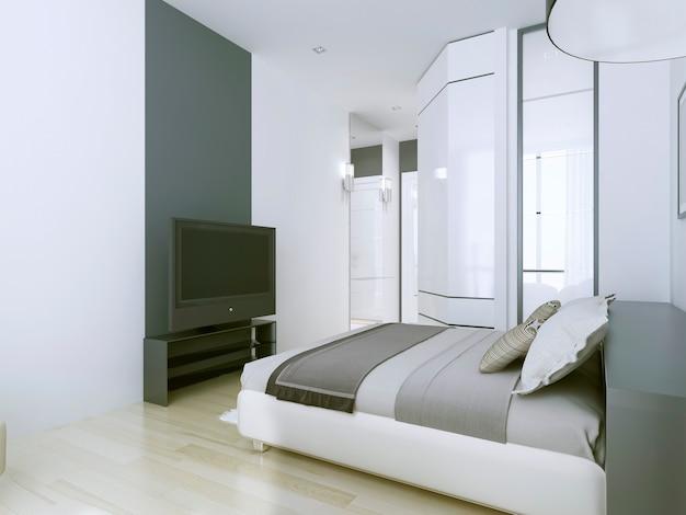 Apartamentos elegantes de hotel 3 estrelas em branco