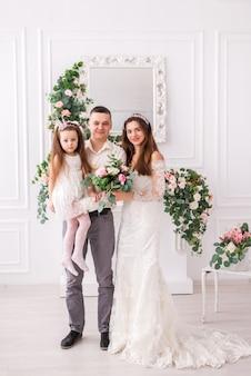 Apenas casal com sua filha