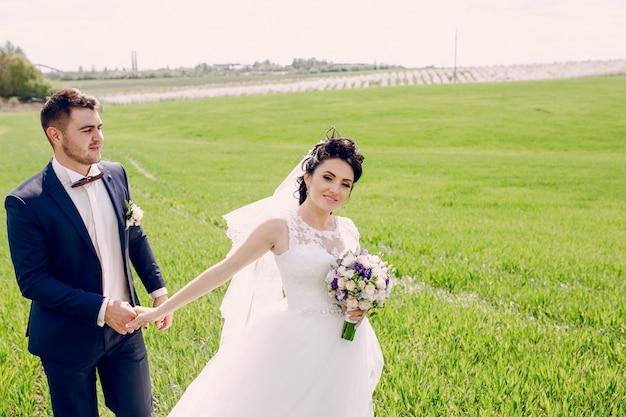 Apenas pares-casados no prado