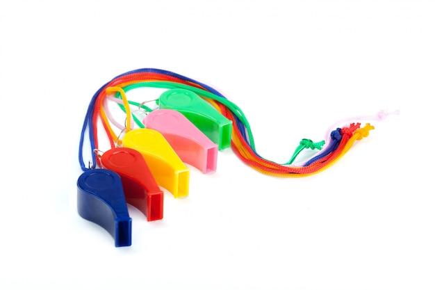 Apito de brinquedo colorido
