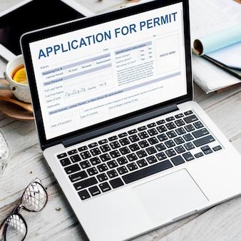 Aplicação para o conceito de autoridade do formulário de licença