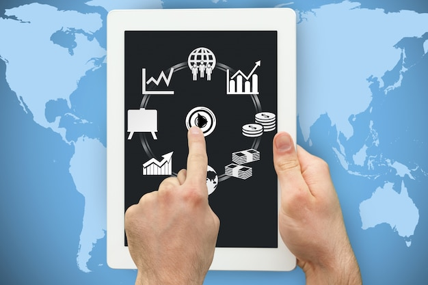 Aplicações tablet menu