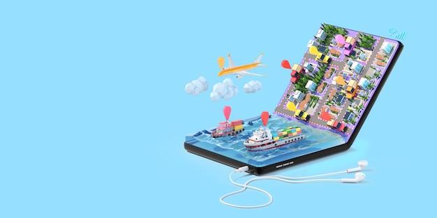 Aplicativo de rastreamento logístico para smartphone