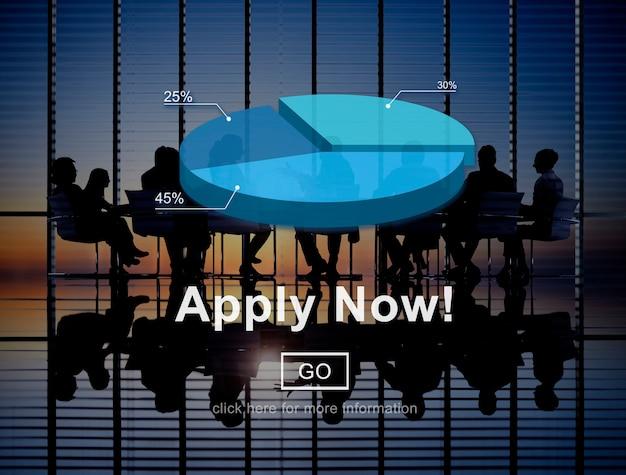 Aplique agora o conceito do trabalho do emprego da aplicação