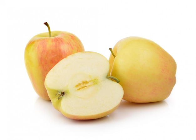 Apple em fundo branco