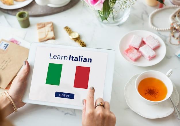 Aprenda o conceito de educação online da língua italiana