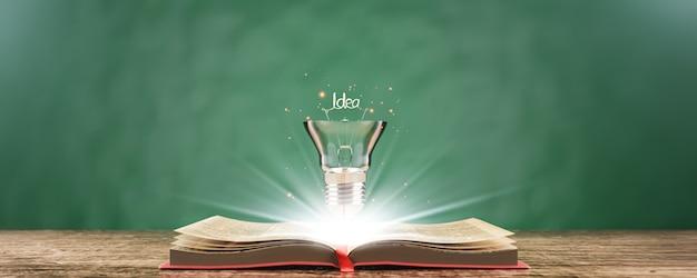 Aprendizagem de educação na escola e universidade ou conceito de ideia.