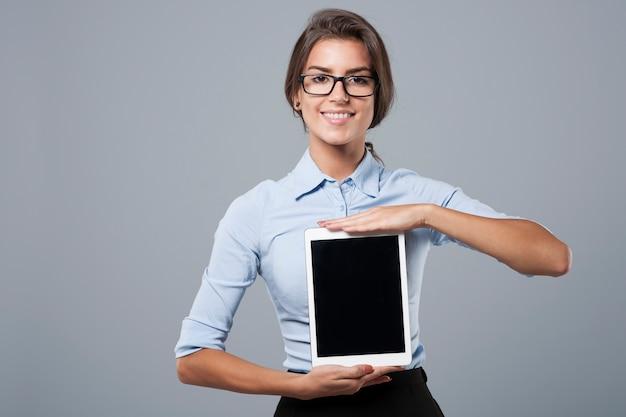 Apresentação de tablet digital recente