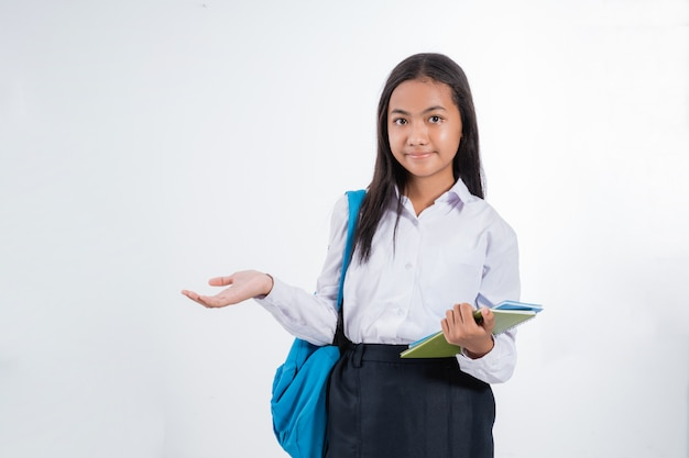 Apresentação do estudante adolescente do ensino médio