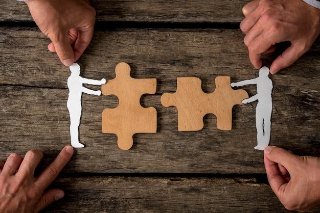 Apropriado para o conceito de trabalho em equipe de negócios
