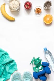 Aptidão do conceito e nutrição adequada saudável.