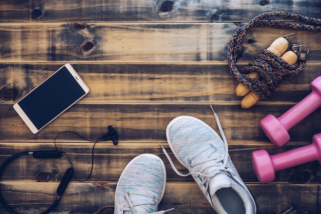 Aptidão e conceito saudável do fundo do estilo de vida ativo.