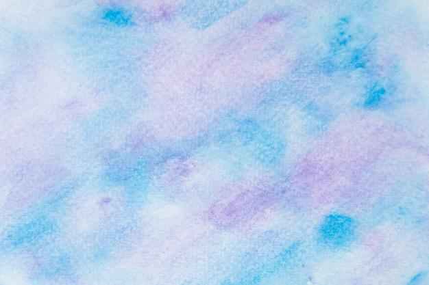 Aquarela abstrata azul e roxa