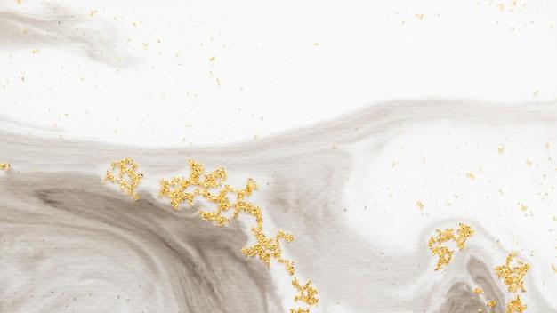 Aquarela abstrata com fundo de glitter dourado