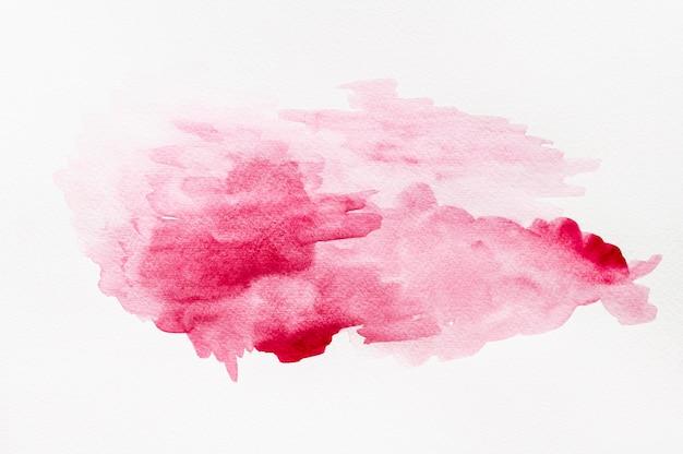 Aquarela abstrata criativa mancha rosa vívida