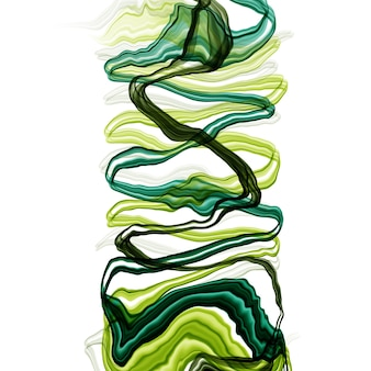 Aquarela abstrata verão desenhada aquarela ou álcool tinta em tons de verde. estilo moderno. perfeito para poligrafia. ilustração raster.