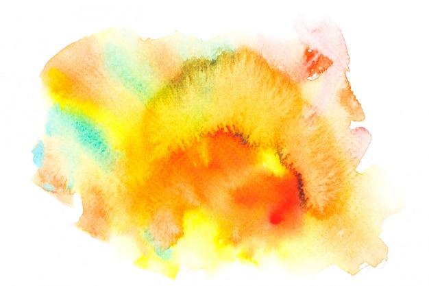 Aquarela amarela com tons coloridos pintar o fundo do traçado