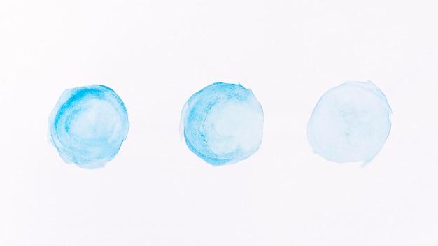 Aquarela azul abstrata formas de lua