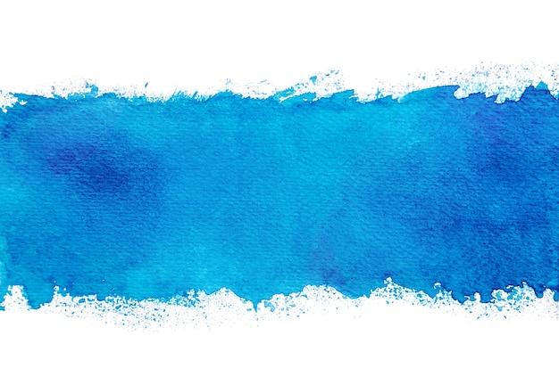 Aquarela azul abstrata que espirra fundos, pintura da mão no papel.