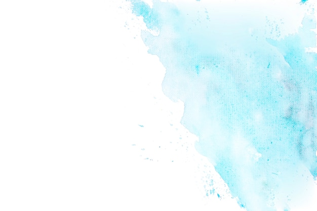 Aquarela azul degradada em um fundo de canto