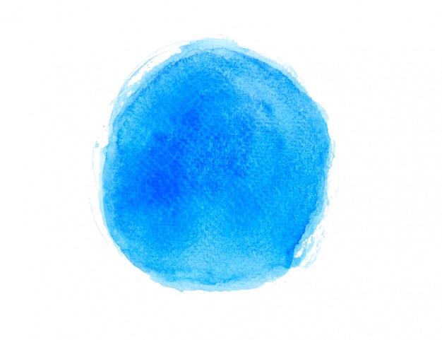 Aquarela azul desenhada.