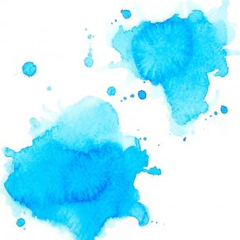 Aquarela azul respingo.