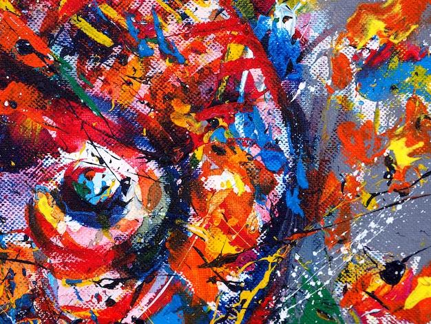 Aquarela colorida pintura abstrato em papel.