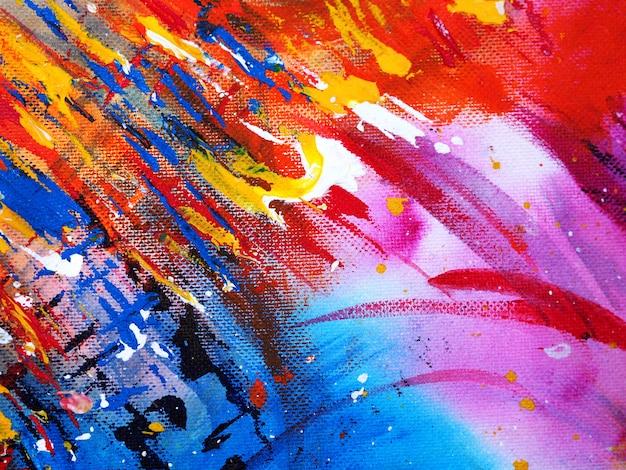 Aquarela colorida que pinta o fundo e a textura do sumário.