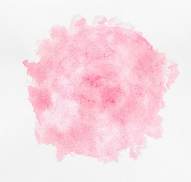 Aquarela cópia espaço circular tinta rosa